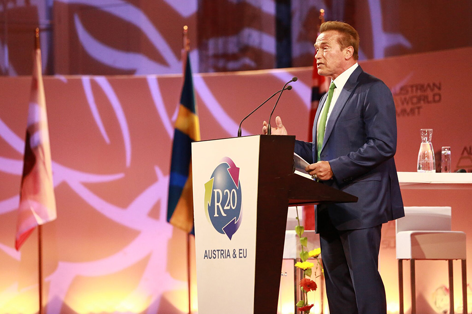 Arnold Schwarzenegger, Chair, R20 Regions of Climate Action